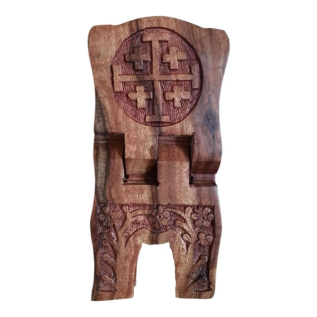Hand-Carved Book Display Stand - Image 1 of 6