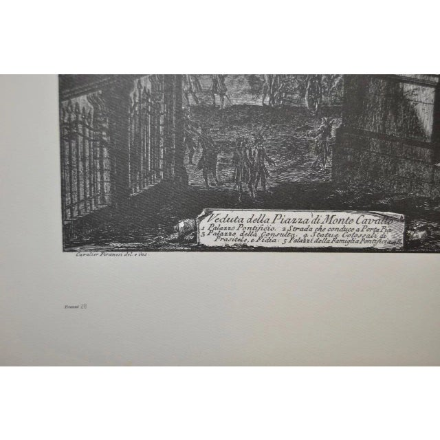 Piranesi Print by Sidney Z Lucas c.1950 Sidney Z Lucas owned the Old Print Center in New York. He sold prints from the...