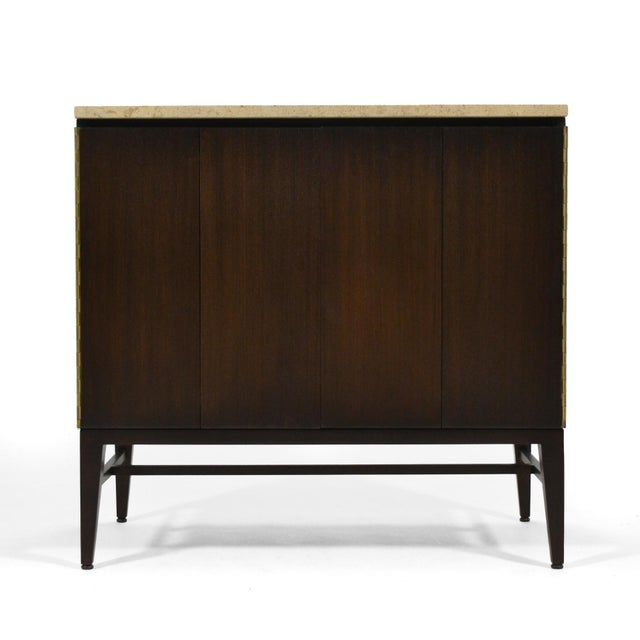 Mid-Century Modern Paul McCobb Cabinets/ Credenzas with TravertineTops by Calvin For Sale - Image 3 of 11