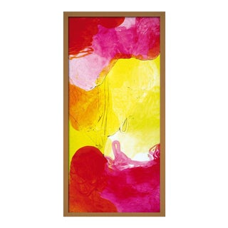 Acquarelli Framed Light Fixture in Red, Pink and Yellow Resin by Jacopo Foggini For Sale