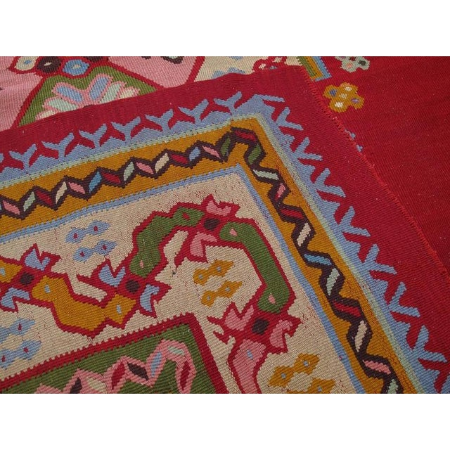Fantastic Antique Oushak Kilim For Sale - Image 10 of 10