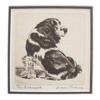 "1936 American Diana Thorne Dog Portrait, ""The Accused"" For Sale"