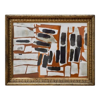 1960s Paul Chidlaw, Framed Abstract Serigraph For Sale
