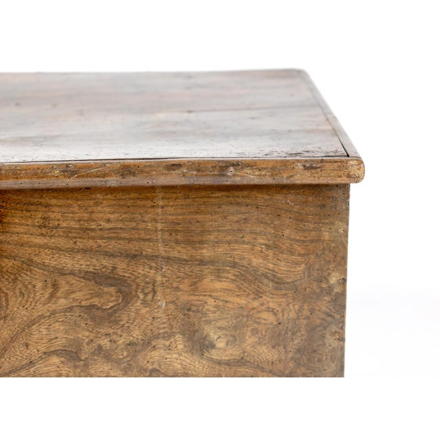 Rustic Chestnut Trunk With Over-Scale Iron Hinges, English Circa 1860. For Sale - Image 12 of 13