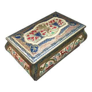 Vintage Decorated Tin Box For Sale