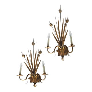 Vintage Spanish Ferrocolor Sconces - a Pair For Sale