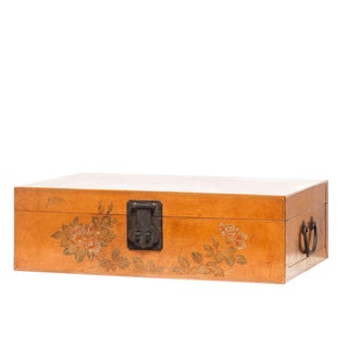 Lawrence & Scott Hand-Painted Natural Leather Box For Sale