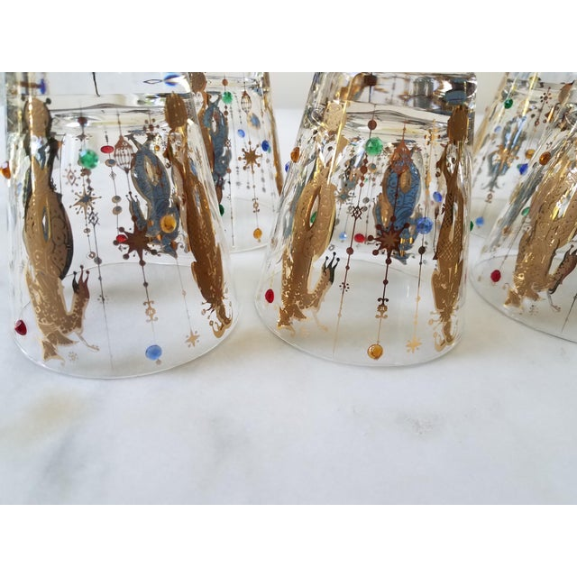 Culver Mardi Gras Glasses - Set of 6 For Sale - Image 10 of 10