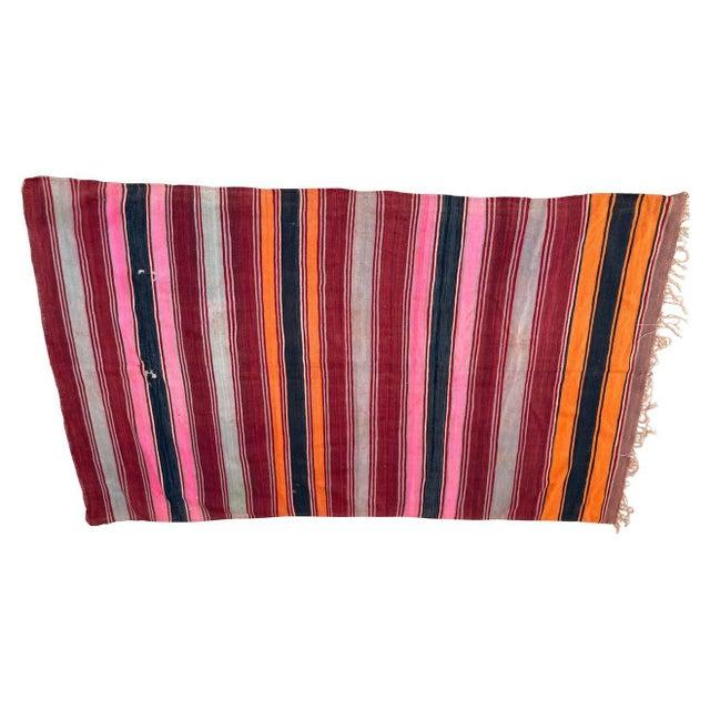 Moroccan Vintage Flat-Weave Stripe Kilim Rug For Sale - Image 13 of 13