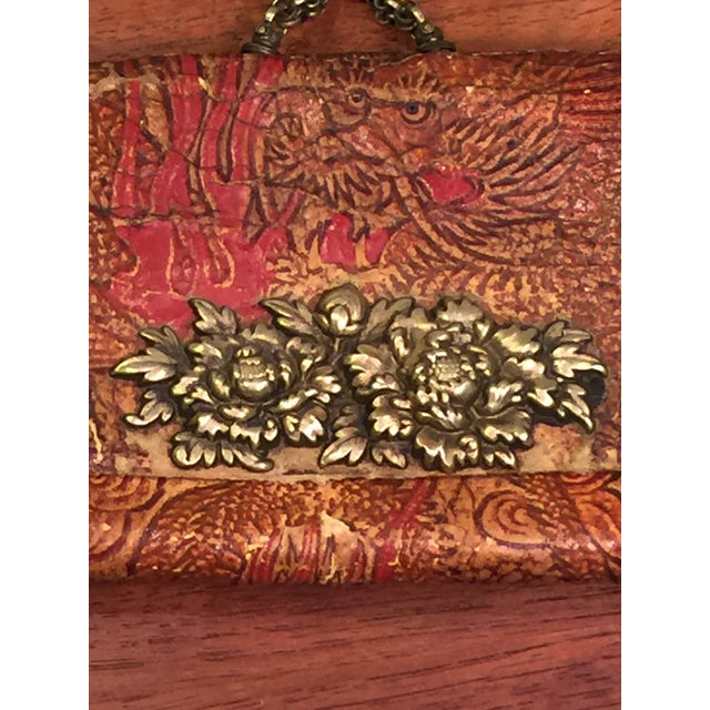 Art Nouveau Late 19th Century Elaborate Meiji Period Embossed Leather and Silver Tobacco Pouch For Sale - Image 3 of 13