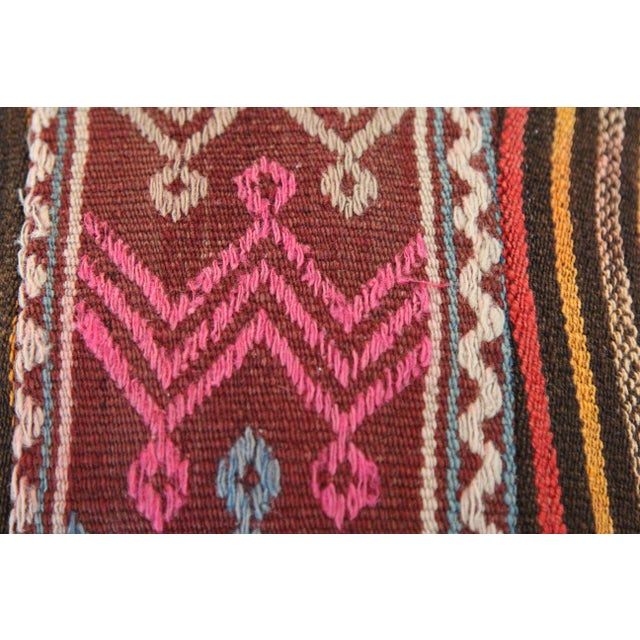 Turkish Wool Kilim Pillowcase For Sale - Image 4 of 6