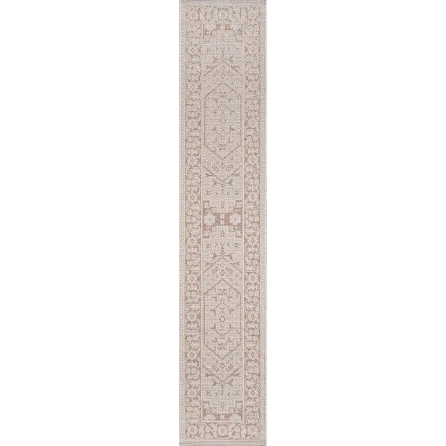 "Erin Gates Downeast Brunswick Beige Machine Made Polypropylene Area Rug 2'7"" X 7'6"" For Sale - Image 9 of 10"