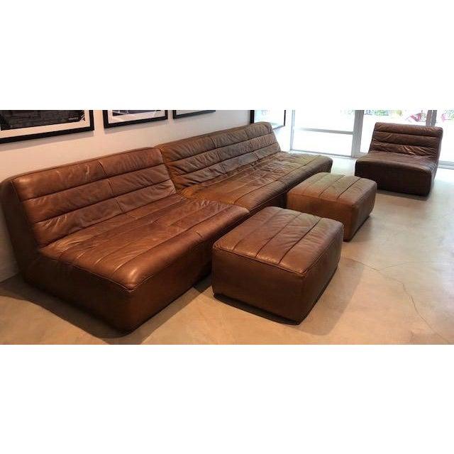 Sectional Sofa Sale Los Angeles: Restoration Hardware Kona Leather Chelsea Sectional Sofa