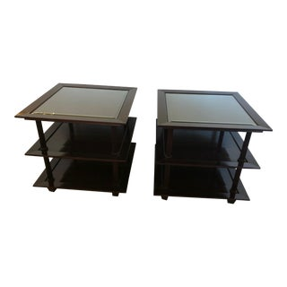 Mid-Century Modern Barbara Barry 3 Tier Side Tables For Sale
