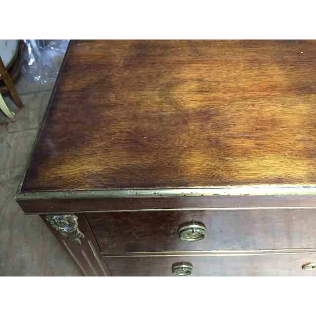 Empire Style Mahogany & Burl Commode For Sale - Image 4 of 7