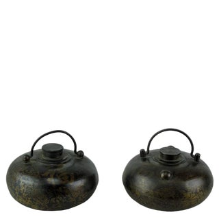 Reproduction Chinese Hand Warmer Pots - a Pair For Sale