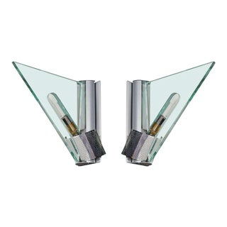 Pair of Italian Modern Architectural Sconces by Carlo Forcolini for Artemide For Sale