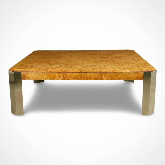 Expansive coffee table by Leon Rosen for The Pace collection. This vastly proportioned cocktail table is fabricated from...