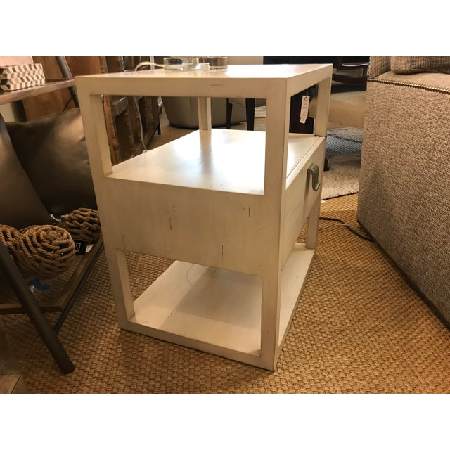 Transitional Transitional Century Furniture New Haven One Drawer Side Table For Sale - Image 3 of 9