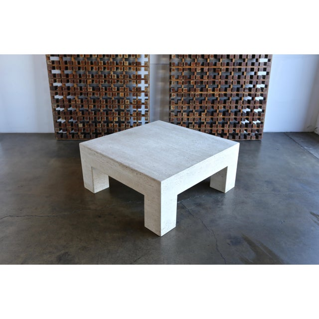Travertine Coffee Table For Sale - Image 4 of 9