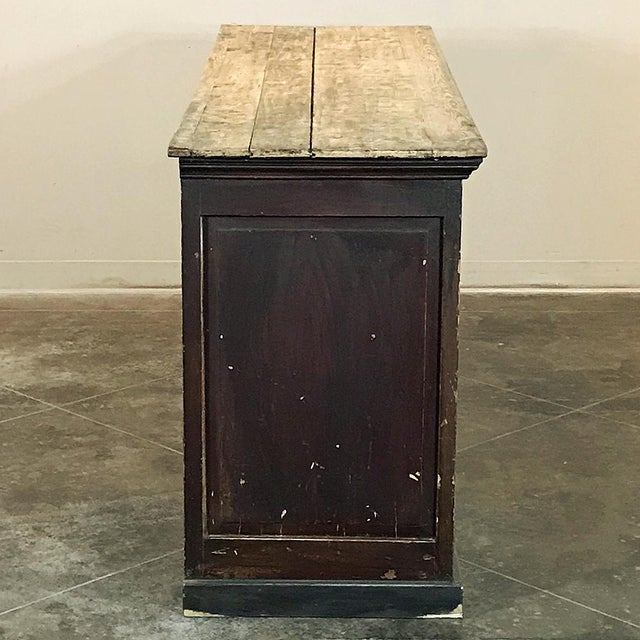 French 19th Century Rustic County French Store Counter For Sale - Image 3 of 11