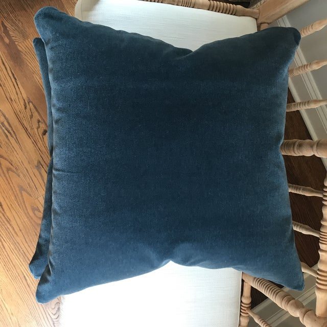 Hague Blue Mohair Velvet Pillows - a Pair For Sale In New York - Image 6 of 9