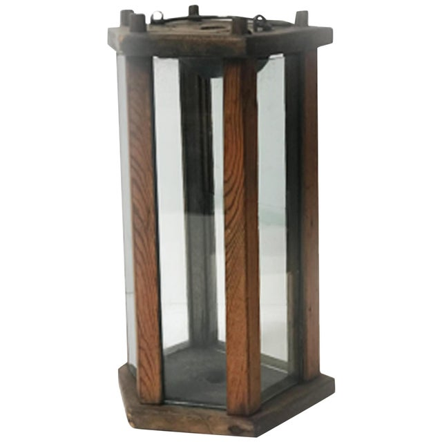 Late 19th Century Late 19th Century Swedish Wooden Lantern For Sale - Image 5 of 5