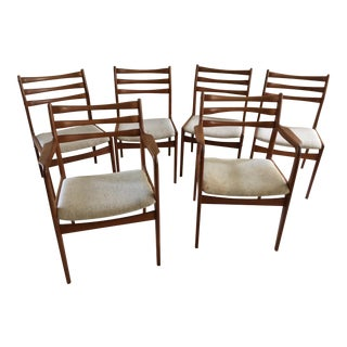 Gangso Mobler Mid-Century Danish Dining Chairs - Set of 6