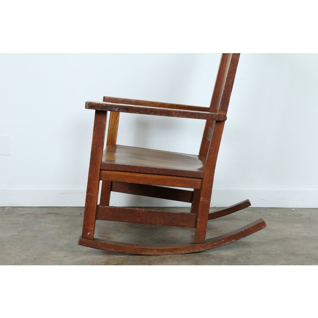Stickley Oak Rocking Chair - Image 6 of 11