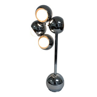 Sonneman Mid Century Chrome Eyeball Chrome Table Lamp For Sale