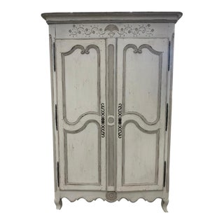 19th Century French Provincial Louis XV Style Armoire For Sale