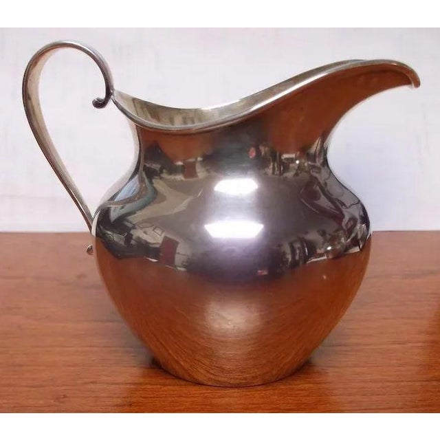 Silver Sterling Silver Sugar and Creamer by International Silver Co. For Sale - Image 8 of 11