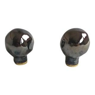 Handmade Ceramic Lamp Finials - a Pair