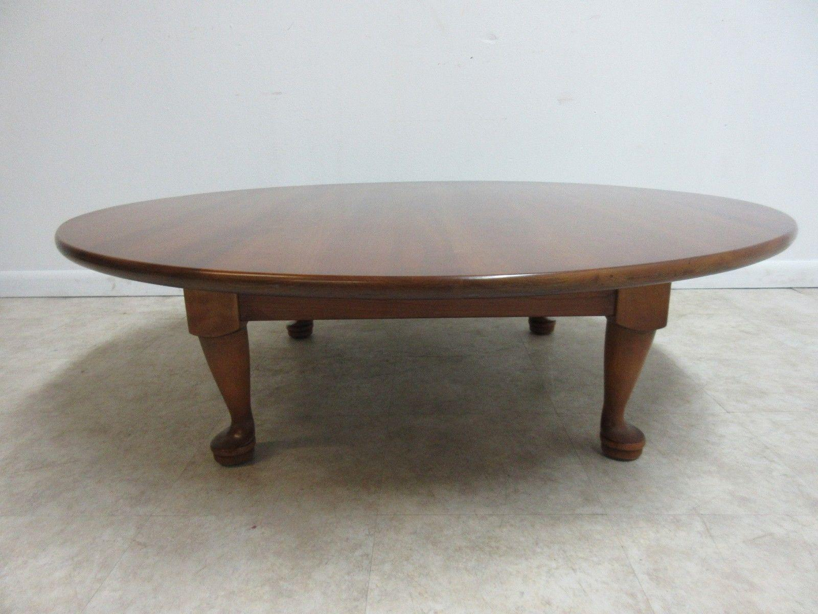 Stickley Cherry Valley Round Tradition Queen Anne Coffee Table   Image 3 Of  8