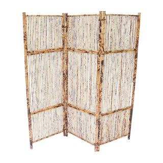 Antique Bamboo & Rattan Screen For Sale
