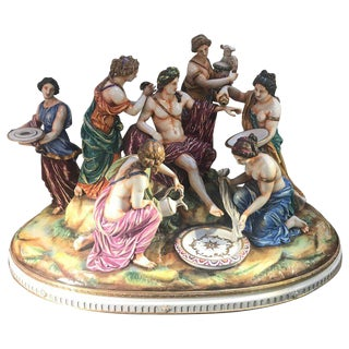 Italian Hand Painted Porcelain Figure For Sale