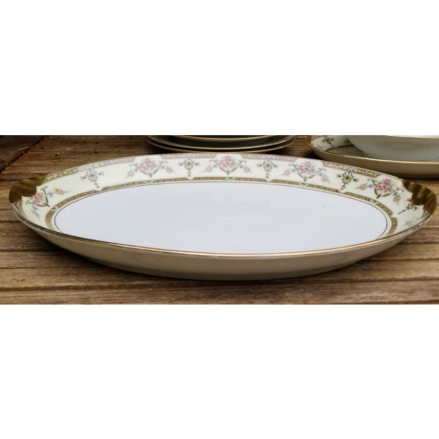 1910s 1910s Gold Rim and Light Yellow Limoges Uc Serving Tray For Sale - Image 5 of 5