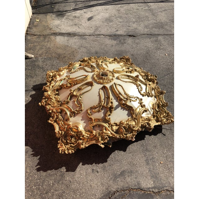 Modern Mohammad Hadid Estate Gold Leaf Ceiling Medallion For Sale - Image 13 of 13