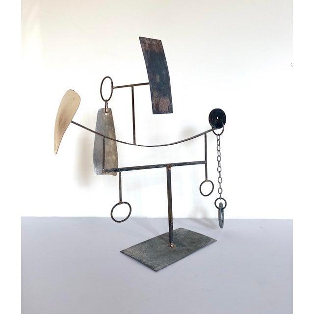 Metal Mid-20th Century Modernist/Constructivist Sculpture For Sale - Image 7 of 7