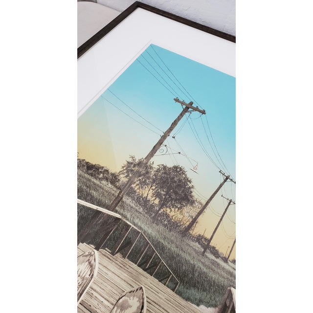 """Martin Levine (American, 20th C.) """"Private Property"""" Limited Edition Color Lithograph C.1982 For Sale In San Francisco - Image 6 of 11"""