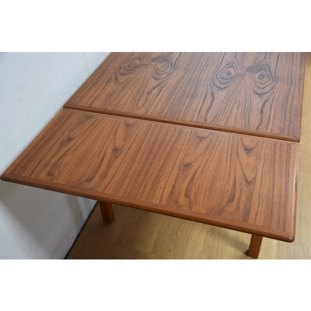Mid-Century Danish Teak Draw Leaf Dining Table For Sale - Image 4 of 11