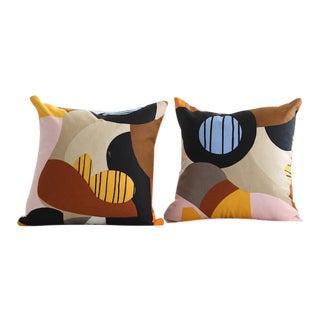 Marimekko Britta Maj Throw Pillows - a Pair For Sale
