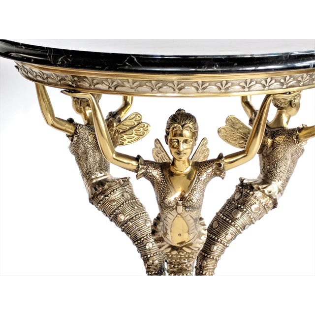 Art Nouveau Bronze Mythical Fairy Figural Tables - A Pair - Image 2 of 11