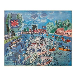 """1940s Raoul Dufy """"Regatta at Cow-On-Thames"""" First Edition Period Swiss Lithograph For Sale"""