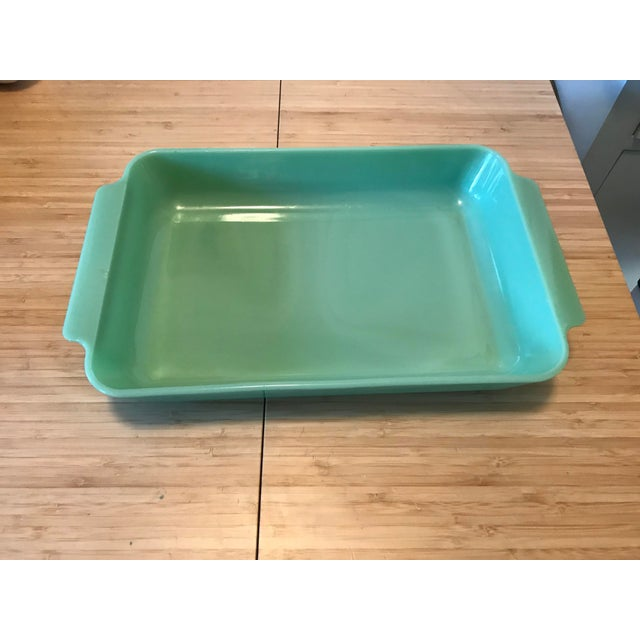 Glass Anchor Hocking Fire King Jadeite Casserole Dish For Sale - Image 7 of 7
