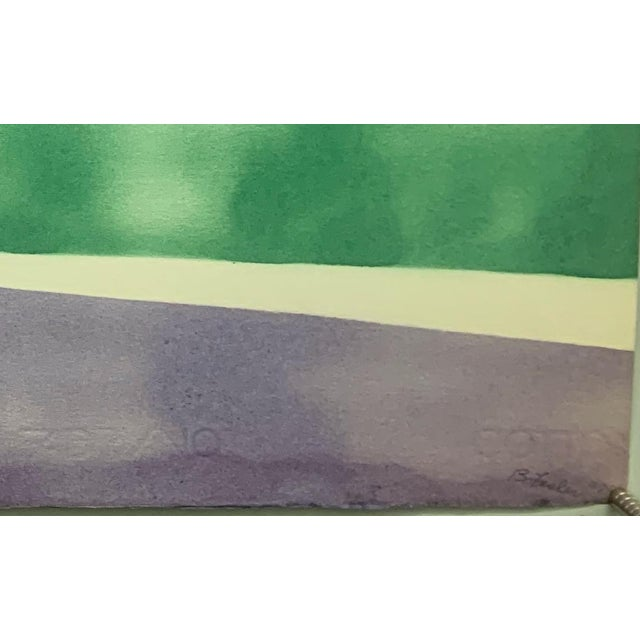 """1978 """"Purple Sky Abstract Landscape"""" Nyc Female Artist Beatrice Fisher For Sale - Image 4 of 5"""
