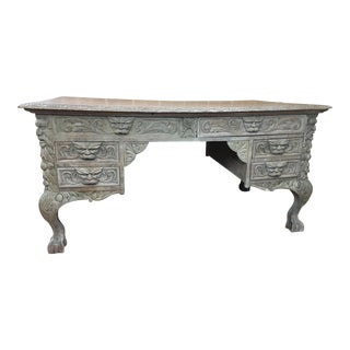20th Century Renaissance Rj Horner Style Writing Desk For Sale