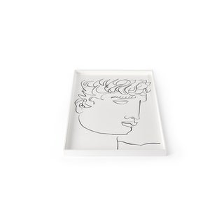 Large Antinous Tray in Bright White - Luke Edward Hall for The Lacquer Company For Sale
