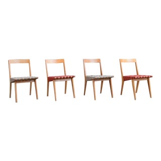 Vintage Jens Risom for Knoll Webbed Chairs - Set of 4 For Sale