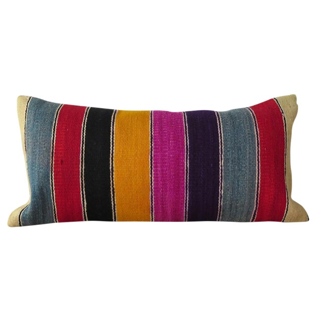 Vintage Striped Kilim Pillow - Image 1 of 7